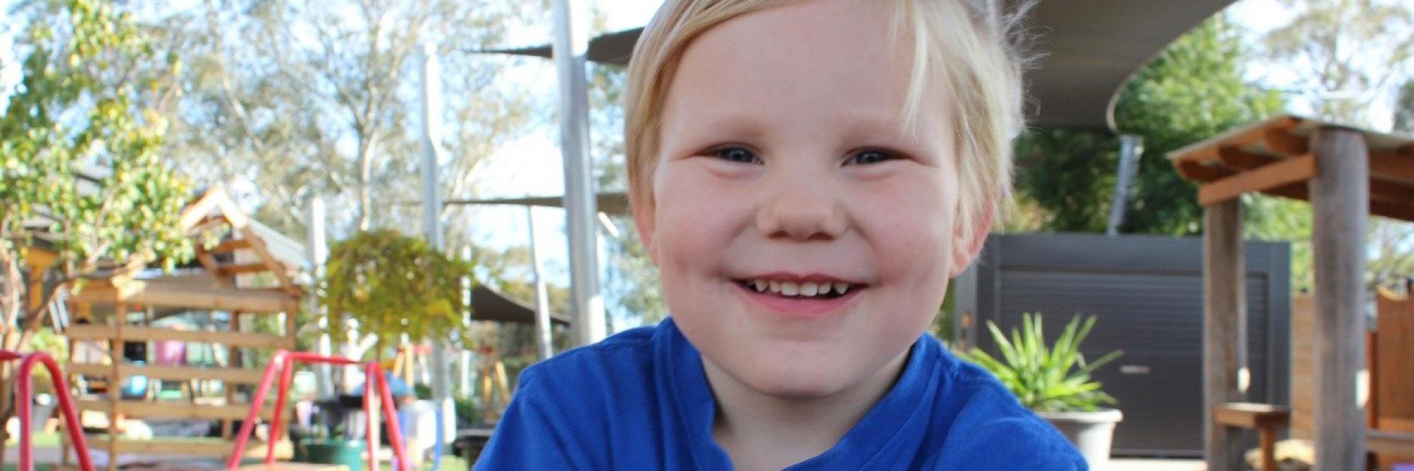 Happy child at the playground.